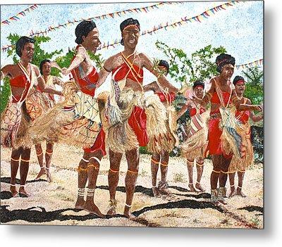 Papua New Guinea Cultural Show Metal Print