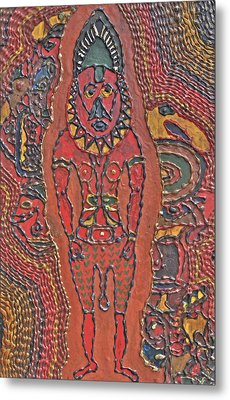 Papua New Guinea Man Metal Print by Carol Tsiatsios