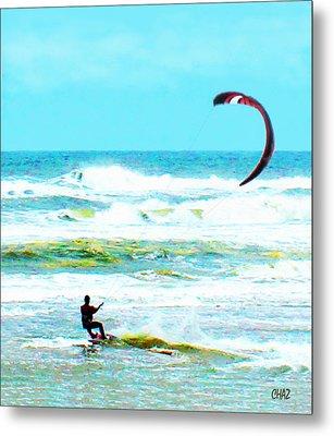 Para-surfer   Metal Print by CHAZ Daugherty