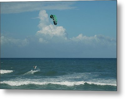 Para Surfing The Atlantic Metal Print by Sheri Heckenlaible
