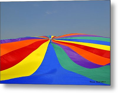 Parachute Of Many Colors Metal Print by Verana Stark