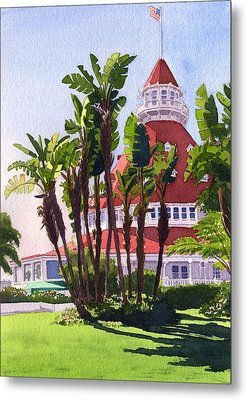Paradise At The Hotel Del Coronado Metal Print by Mary Helmreich