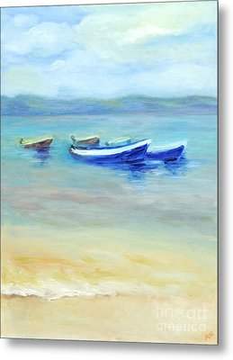 Metal Print featuring the painting Paradise Island  by Barbara Anna Knauf