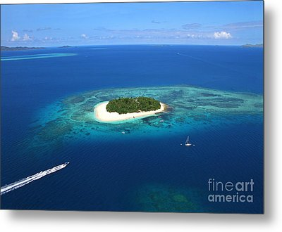 Paradise Island In South Sea II Metal Print by Lars Ruecker