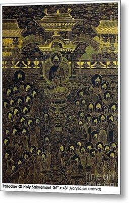 Paradise Of Holy Sakyamuni Metal Print by Fei A