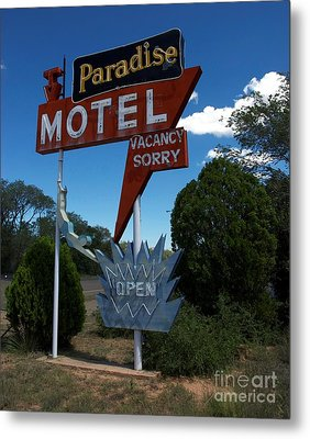Paradise On Route 66 Metal Print by Mel Steinhauer