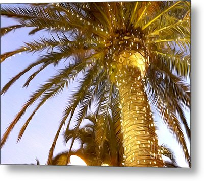 Paradise Palm Metal Print by Jon Neidert