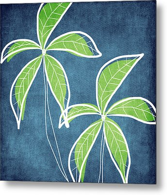 Paradise Palm Trees Metal Print by Linda Woods