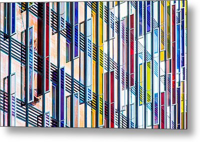 Parallels And Rectangles Metal Print by Adam Pender