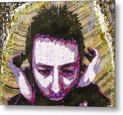 Paranoid Android Version Metal Print by Bobby Zeik