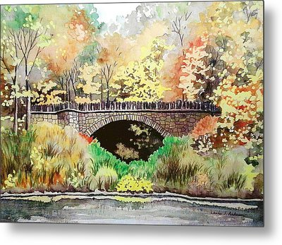 Parapet Bridge - Mill Creek Park Metal Print