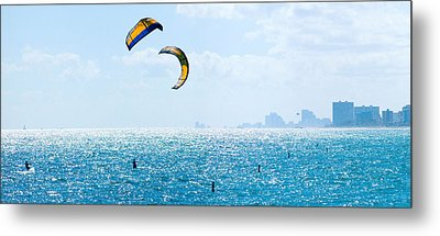Parasailing Over The Atlantic Ocean Metal Print by Panoramic Images