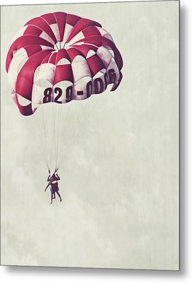 Parasailing The Caribbean Metal Print