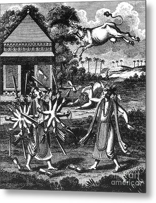 Parasurama, Sixth Avatar Of Vishnu Metal Print by Photo Researchers