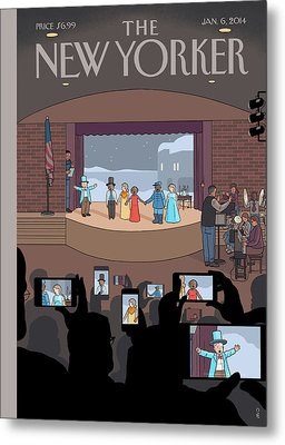 Parents Photograph Their Children's Play Metal Print by Chris Ware