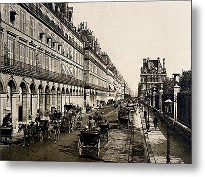 Paris 1900 Rue De Rivoli Metal Print by Ira Shander