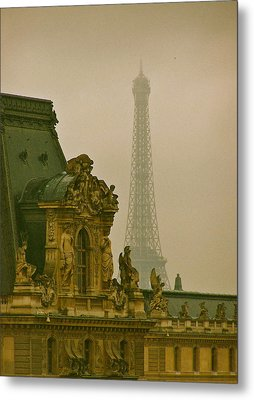 Paris Architecture Metal Print by Betsy Moran