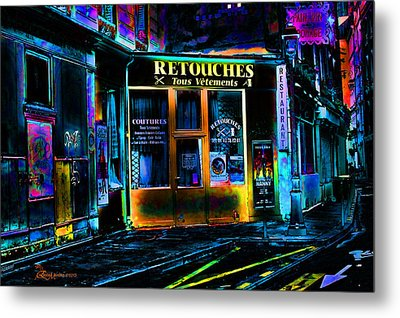 Paris At Night Metal Print by EricaMaxine  Price