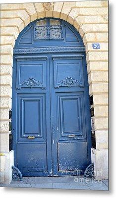 Paris Blue Doors No. 26 - Paris Romantic Blue Doors - Paris Dreamy Blue Doors - Parisian Blue Doors Metal Print