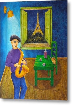 Paris Blues Metal Print by Pamela Allegretto