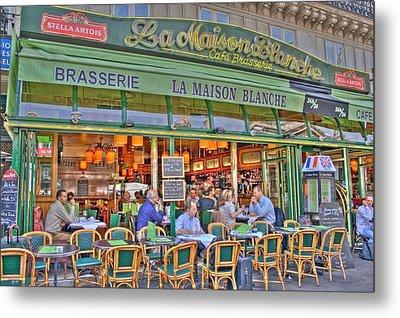 Paris Cafe In Summer Metal Print by Matthew Bamberg