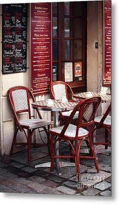 Paris Cafe Metal Print by John Rizzuto