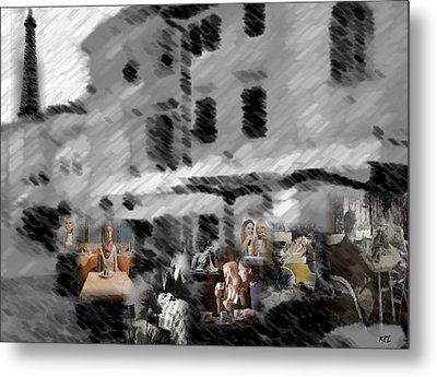 Paris Cafe Metal Print by Kelly McManus