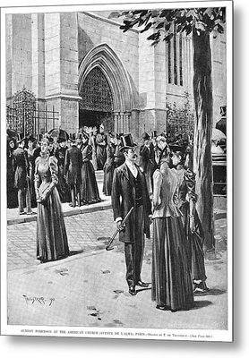 Paris Church, 1890 Metal Print by Granger