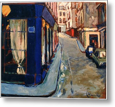 Metal Print featuring the painting Paris Cityscape by Walter Casaravilla