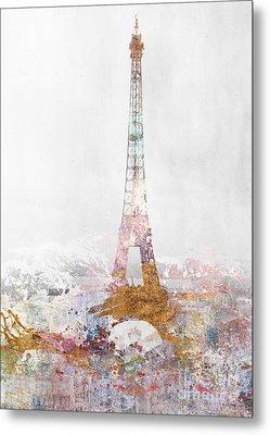 Paris Color Splash Metal Print