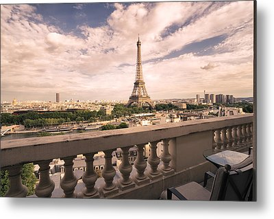 Paris - Eiffel Tower Metal Print by Vivienne Gucwa