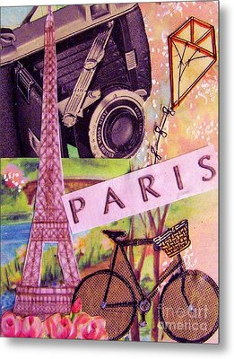 Metal Print featuring the drawing Paris  by Eloise Schneider