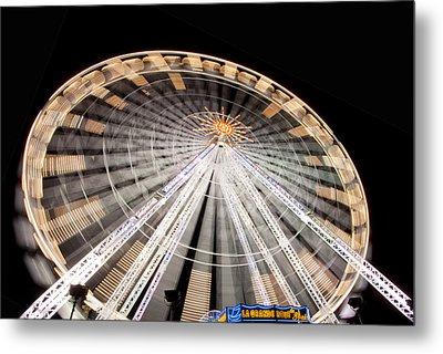 Paris Ferris Wheel Metal Print by Matthew Bamberg