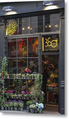 Paris Flower Shop Metal Print by Glenn DiPaola