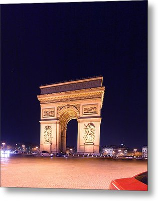 Paris France - Arc De Triomphe - 01131 Metal Print by DC Photographer