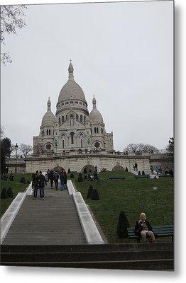 Paris France - Basilica Of The Sacred Heart - Sacre Coeur - 12128 Metal Print by DC Photographer