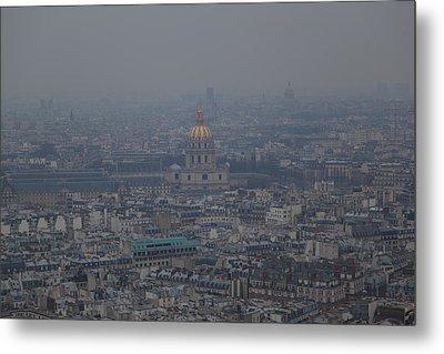 Paris France - Eiffel Tower - 01133 Metal Print