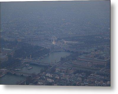 Paris France - Eiffel Tower - 01137 Metal Print by DC Photographer