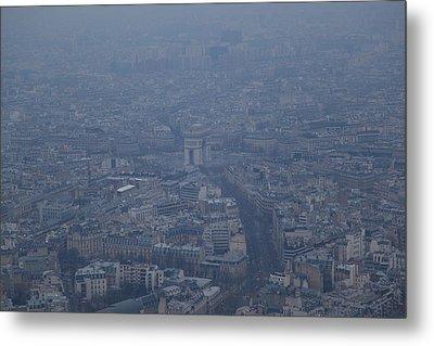 Paris France - Eiffel Tower - 01138 Metal Print by DC Photographer