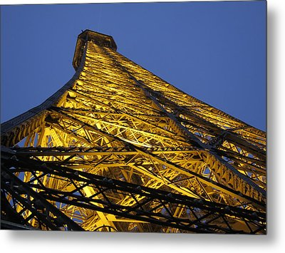 Paris France - Eiffel Tower - 12121 Metal Print by DC Photographer