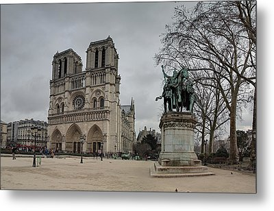 Paris France - Notre Dame De Paris - 011314 Metal Print by DC Photographer