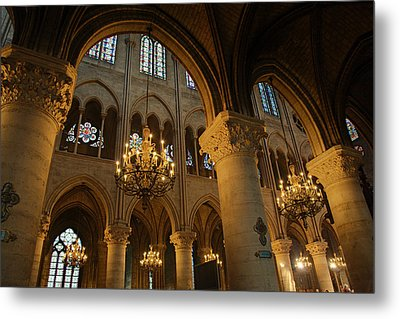 Paris France - Notre Dame De Paris - 01134 Metal Print by DC Photographer