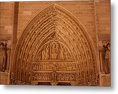 Paris France - Notre Dame De Paris - 01136 Metal Print by DC Photographer