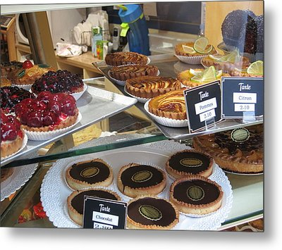 Paris France - Pastries - 121210 Metal Print by DC Photographer