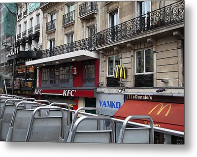 Paris France - Street Scenes - 0113130 Metal Print by DC Photographer