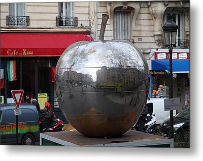 Paris France - Street Scenes - 0113136 Metal Print by DC Photographer