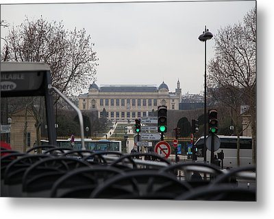 Paris France - Street Scenes - 011387 Metal Print by DC Photographer