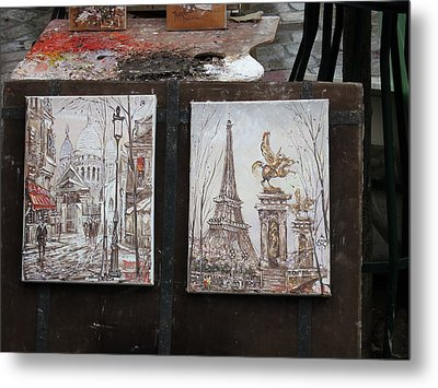 Paris France - Street Scenes - 121225 Metal Print by DC Photographer