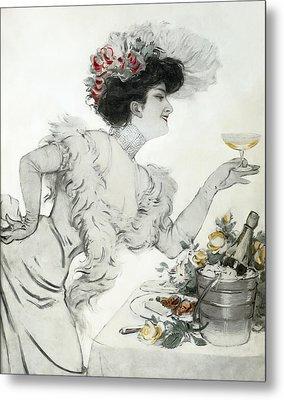 Paris Holiday  1904 Metal Print by Daniel Hagerman
