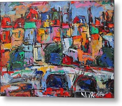 Paris In Colors Metal Print